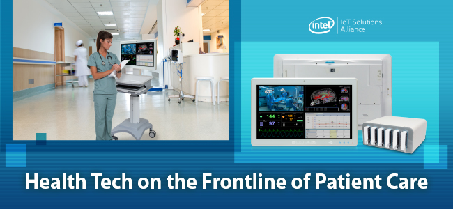 Case study - IEI's medical panel PC used as a Workstation on Wheel in a hospital.